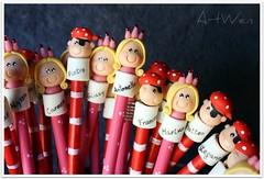 Entre piratas y princesas / Tra pirati e principesse (ArtWen) Tags: matite lapices comunione bomboniere pirati porcelanafria principesse pastadimais artwen souvenirpicnik