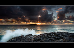 (danishpm) Tags: clouds sunrise canon fisherman rocks wave wideangle aussie 1020mm hitech manfrotto sigmalens eos450d fingalheads 450d internationalgeographic sorenmartensen 09ndreversegrad
