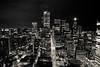 night running (tomms) Tags: sky urban blackandwhite toronto ontario canada skyline night spring cityscape explore metropolis kingstreet frontpage rooftopping