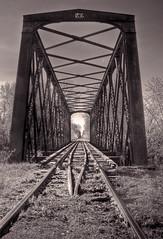 Trestle (subadei) Tags: railroad canon vermont bridges trains salisbury photomatix lightroom3