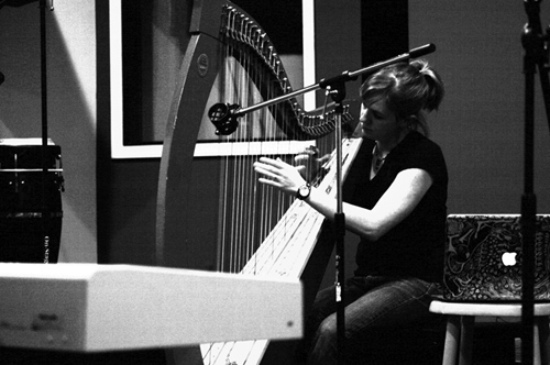 Maggie on Harp