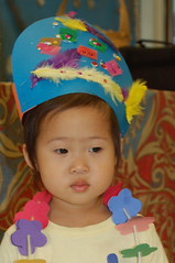 Aki with her Tahitian headpiece