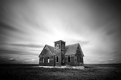 Perished Parish (www.toddklassy.com) Tags: old windows sky blackandwhite usa cloud storm building history dusty abandoned broken church monochrome parish horizontal architecture composition neglect landscape outside religious outdoors photography sadness wooden catholic moody desert god cloudy decay empty fineart sunday rustic dream chapel nobody lord dirty gone spooky western ghosttown settlers weathered christianity copyspace lutheran damaged dramaticsky sorrow decline greatdepression cloudscape grasslands oldfashioned rundown calvary abandonedbuilding ruralamerica greatplains placeofworship stockphotography emptyfield historiclandmark churcharchitecture sundayservice ruralscene prairiechurch brethrenchurch builtstructure beliefingod milkrivervalleychurch