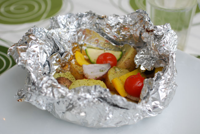 potatoes and vegetables