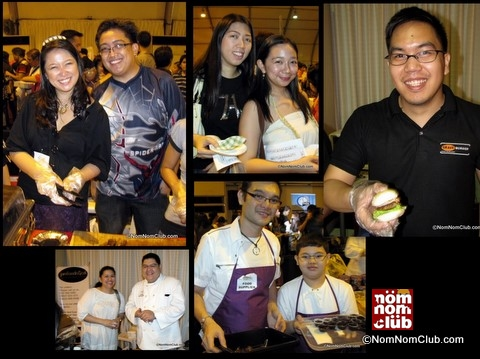 Ella Ganda's Liempo (upper left); college orgmates (upper center); Crave Burger (upper right)