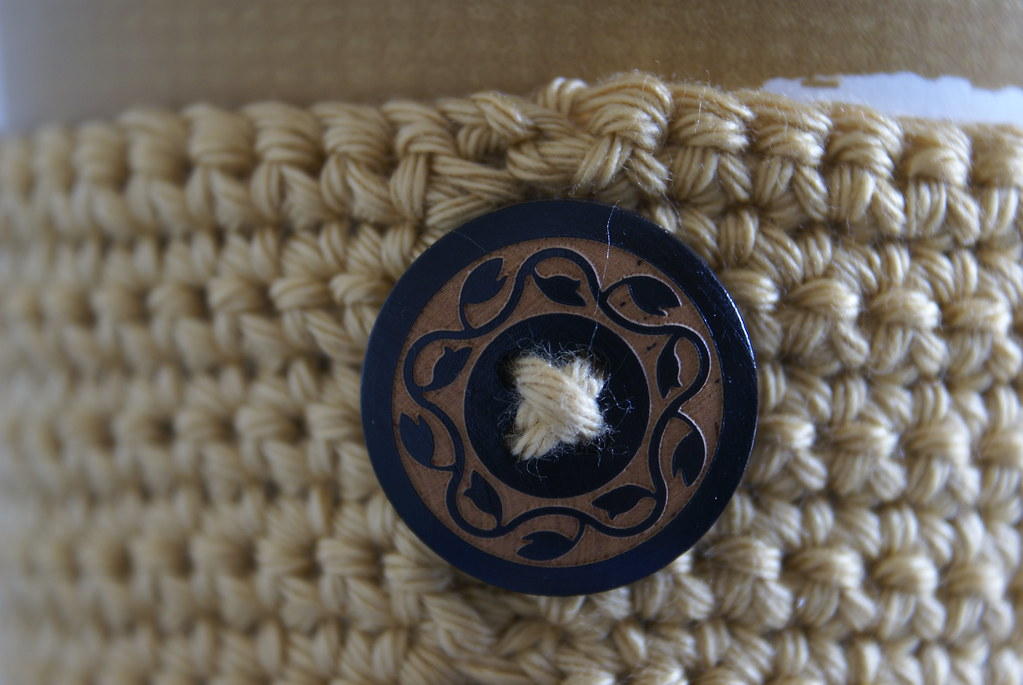 Coffee cuff button