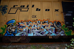 DAZE TN NSA RTM (daze tn) Tags: art train graffiti birmingham tn alabama boxcar freight daze traingraffiti csx nsa rtm railbox beggarscantbechoosers dazetn