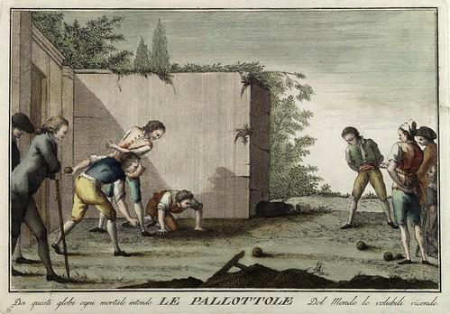 004-La bola- Giuochi Trattenimenti e Feste Annue Che si Costumano in Toscana 1790- Giuseppe Piattoli