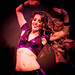 Maria : beautiful belly dancer in the moment