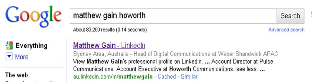 Matthew Gain Howorth