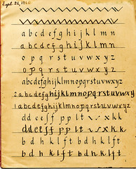 school england texture handwriting children fountainpen penmanship method 1960 t4lagree vintagethriftstorekitschephemera