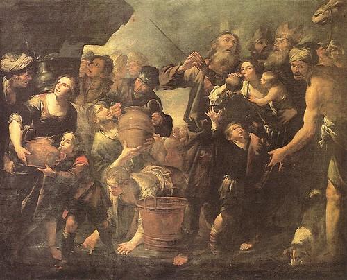Moisés sacando agua de la piedra, Gioachino Asserto