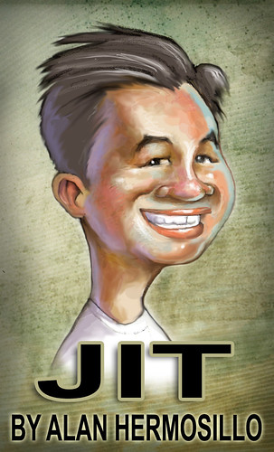 My caricature by caricaturist and architect Alan Hermosillo Ibarra