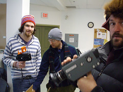 Students from danimations' 1st ever Super8 film production workshop in Dawson City, Yukon, Canada 2007 (danimations) Tags: canada film yukon workshop super8 dawsoncity developing danimations danmonceaux kiac emmasterling