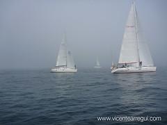 Niebla en la 2 manga de la Regata Costa Brava. Tras dos horas se canceló por seguridad