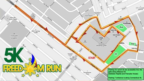 Freedom Run 2010 - 5K Race Map