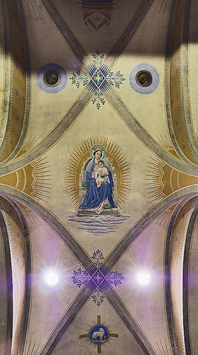 Saint Meinrad Archabbey, in Saint Meinrad, Indiana, USA - Monte Cassino Shrine - ceiling