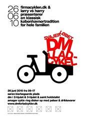 Poster for Danish Cargo Bike Championships 2010 / Svajerløb [white]