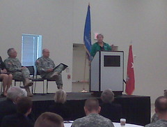 Jari Speaking at Opening of New Reserve Center (jariaskins) Tags: oklahoma army reserve norman governor jari askins