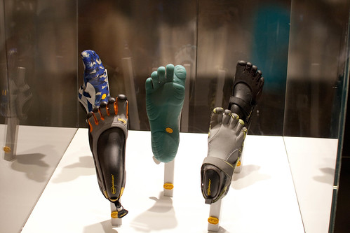 Vibram five fingers on display in the Italy Pavilion