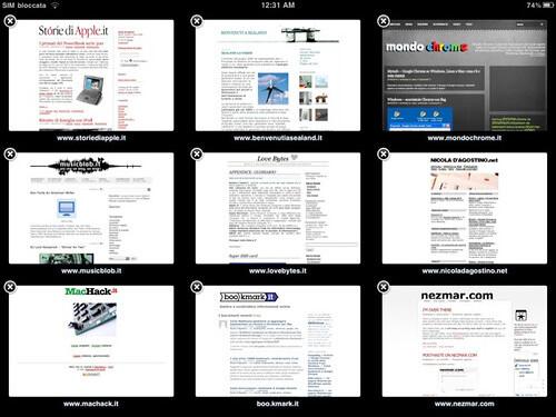 iPad - MobileSafari - alcuni siti miei