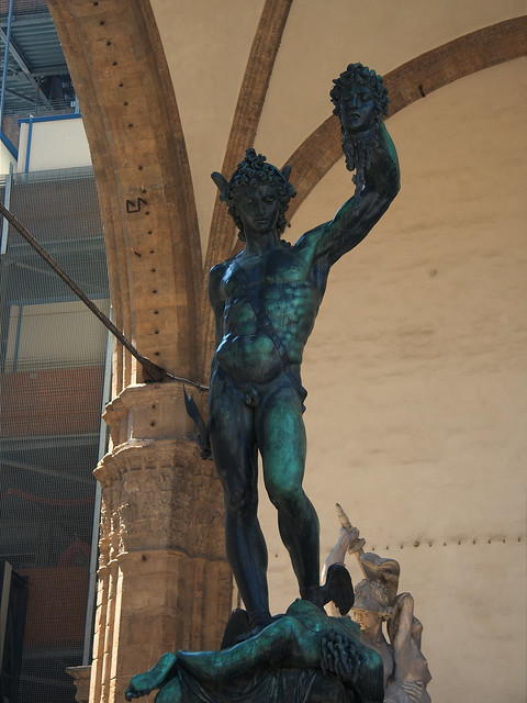 Perseus and the Gorgon. Statue in the Piazza della Signoria in Florence
