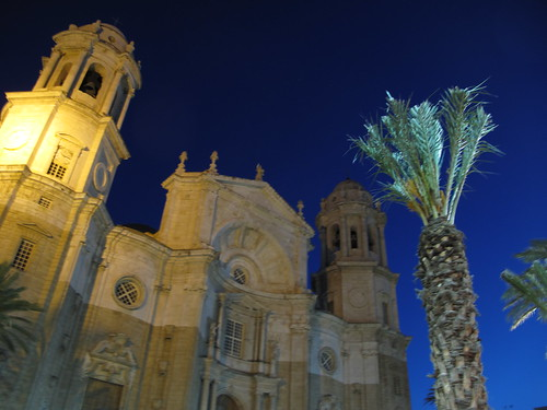 Cadiz Cathedral at night