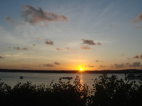 Pôr do Sol na praia do Jacaré