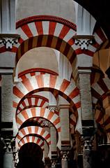 La Mezquita, Cordoba Spain (PM Kelly) Tags: red white spain cathedral islam mosque christian moorish cordoba mezquita moor pmkphoto churcharch