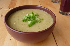 Chilled Tomatillo and Cucumber Soup