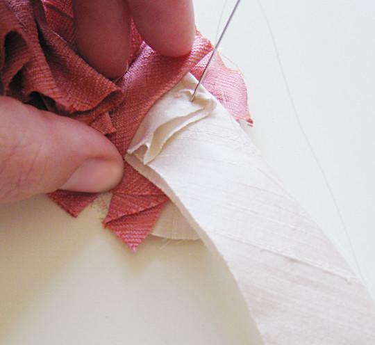 Silk Flower Necklace DIY -7