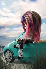 By the sea (erregiro) Tags: pink summer haircut black beach colors dark nose eyes punk doll eyelashes purple time style highlights lips piercing ring carve blonde blythe custom eyeshadow hairstyle peppermint blusher reroot erregiro primadolly ooal