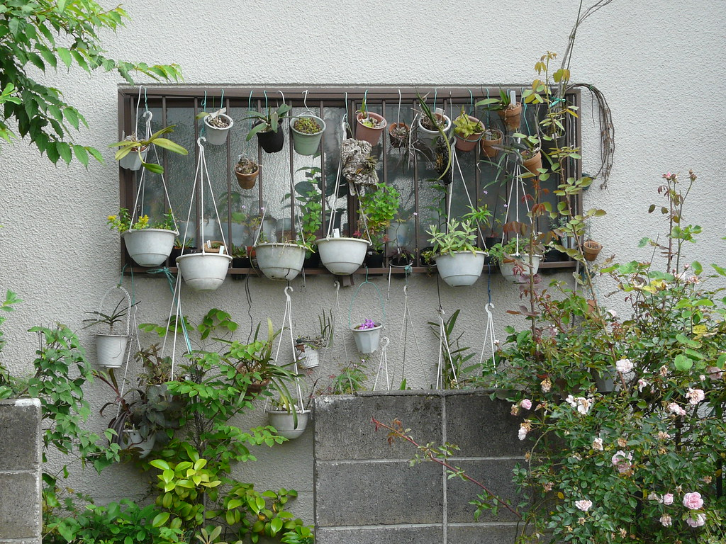 Hanging garden in pots and wire fixes materials wire workwithnaturefo