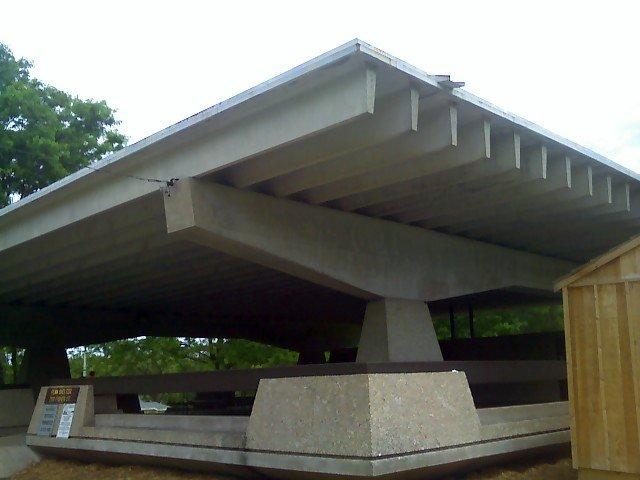 Penn Park picnic shelter (closeup)