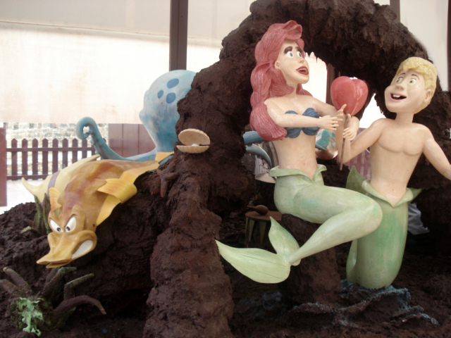 The Little Mermaid Chocolate Sculpture