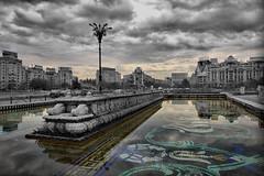 Bucharest II (Flav Mogo) Tags: fountain cityscape bucharest hdr bucuresti piata fantana piataunirii unirii