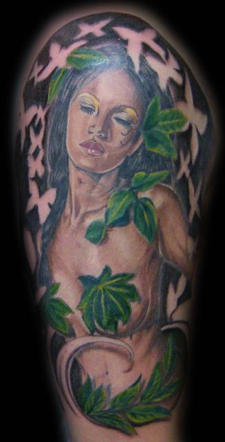tatuajes de ninfas. Tatuaje ninfa Pupa Tattoo Granada. Pupa Tattoo Art Gallery C/Molinos, 15