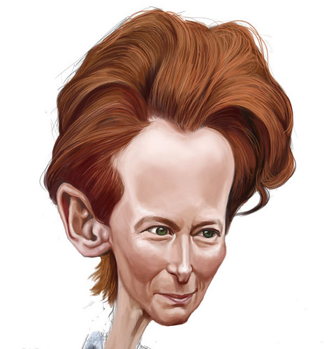 digital caricature of Tilda Swinton - 4