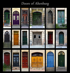 Doors Of Altenburg (sternschnuffy) Tags: city urban abandoned town thringen colorful doors decay tr tren altenburg sternschnuffy
