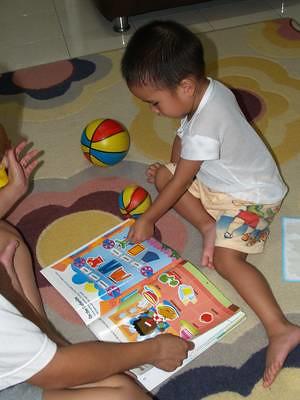 Julian and sticker book