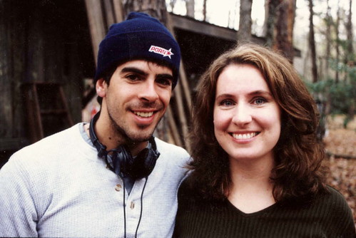 Rebecca is the leading lady of the Piedmont Triad Film Comission. This is her with Eli Roth back in 2001, while he was filming Cabin Fever in the Triad. According to imdb.com, Quentin Tarantino called Roth the future of horror.