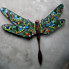 Big Dragonfly (Moe's Ache) Tags: glass dragonfly mosaic cappi moesache moesacheblog