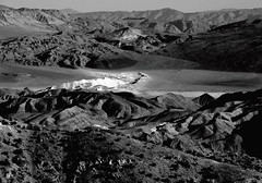 Eureka Dunes from Last Chance Mountain (rowjimmy76) Tags: california blackandwhite bw nature canon landscape outdoors sand view unitedstates hiking dunes dry summit arid sierraclub mojavedesert greatbasin dps g11 eurekavalley deathvalleynationalpark lastchancerange desertpeakssection lastchancemountain