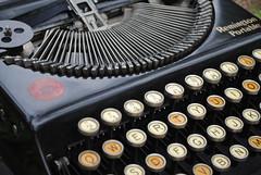 Remington Portable (Anthony Albright) Tags: typewriter typewritersinnature nature mechanical old antique 1920 remington remingtonportable black dirt usedtypewriter manual