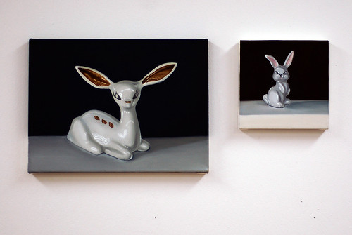 Deer and Bunny Paintings