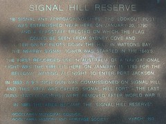 Signal Hill Reserve, Vaucluse (pellethepoet) Tags: plaque fort sydney australia newsouthwales fortification signalhill vaucluse signalhillreserve signalhillfort