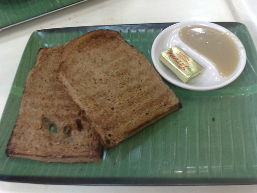 coconut jam toast