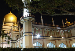 The Grand Sultan Mosque, Singapore (williamcho) Tags: heritage night singapore muslim prayers nationalmonument arabstreet sultanmosque imagesofsingapore malays kampongglam masjidsultan tourismattraction placeofworshipkoran photosonsingapore