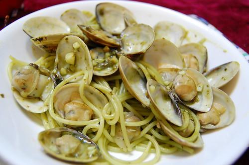 陽春香蒜青醬蛤蜊義大利麵