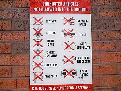 proibições em museus